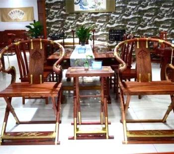 缅甸大果紫檀交椅三件套